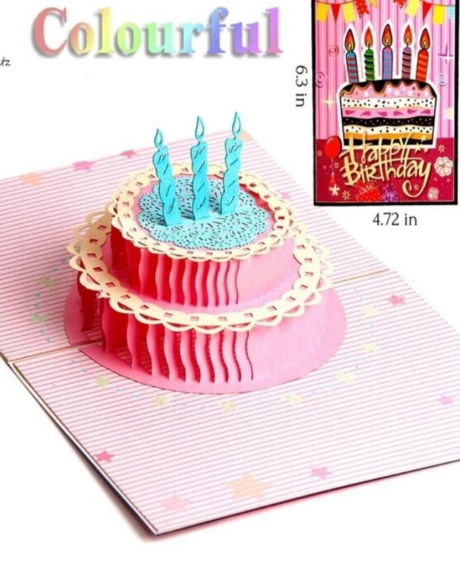 Handmade 3D Pop Up Birthday Card